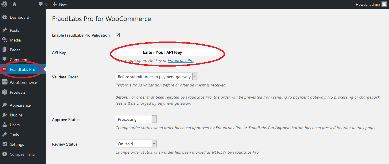 Configure Fraud Detection Plugin on WooCommerce