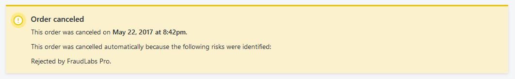 Shopify Order Canceled