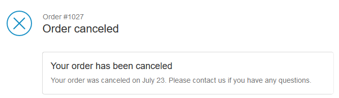 shopify cancel message