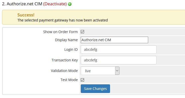 whmcs authorize.net settings