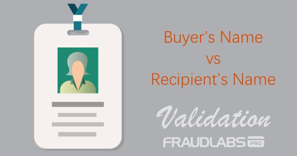 buyer name vs recipient name