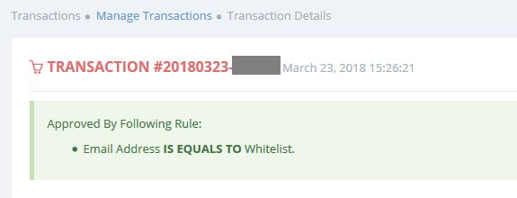 whitelisted order