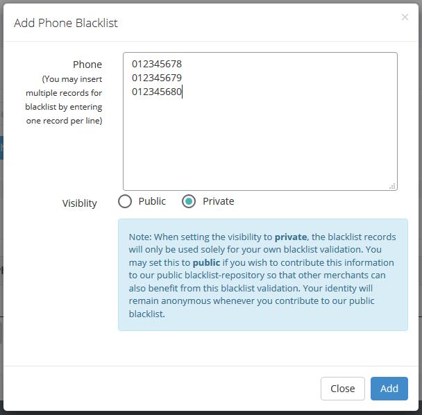 phone blacklist