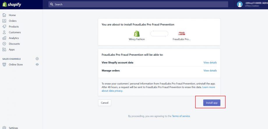 setup fraud protection for Shopify
