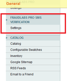 SMS Verification Settings