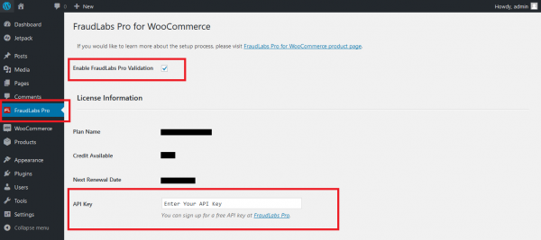 setup fraud protection for WooCommerce