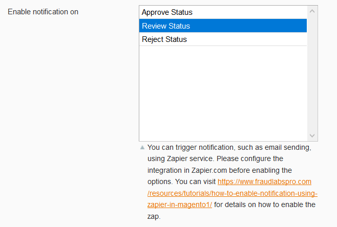 Enable notification in Magento 1 Setting