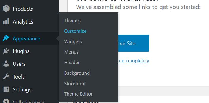 Customize menu in WordPress