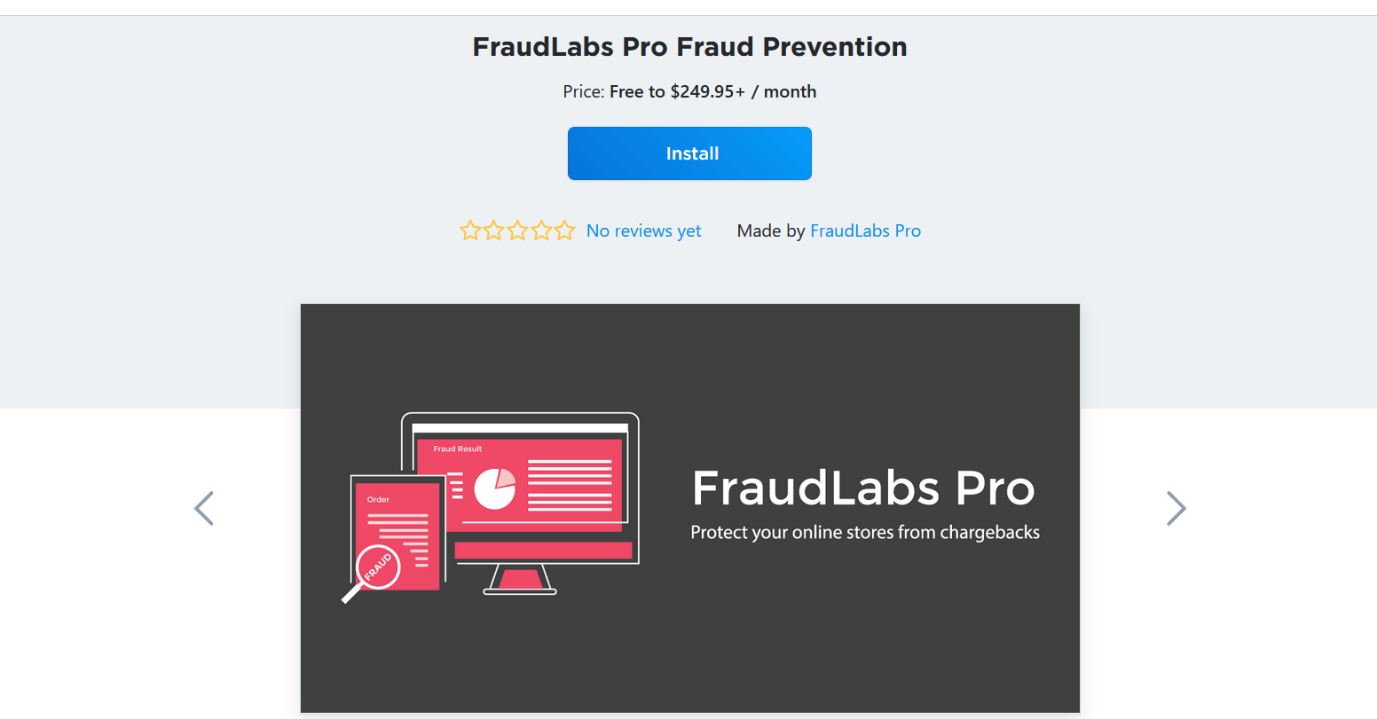 Install FraudLabs Pro Fraud Prevention App