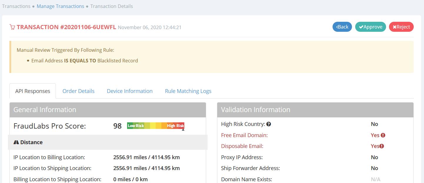 FraudLabs Pro Merchant Area