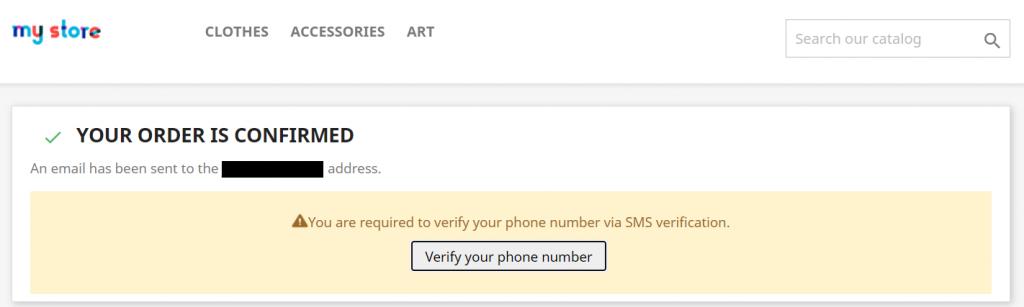 SMS Verification section in PrestaShop